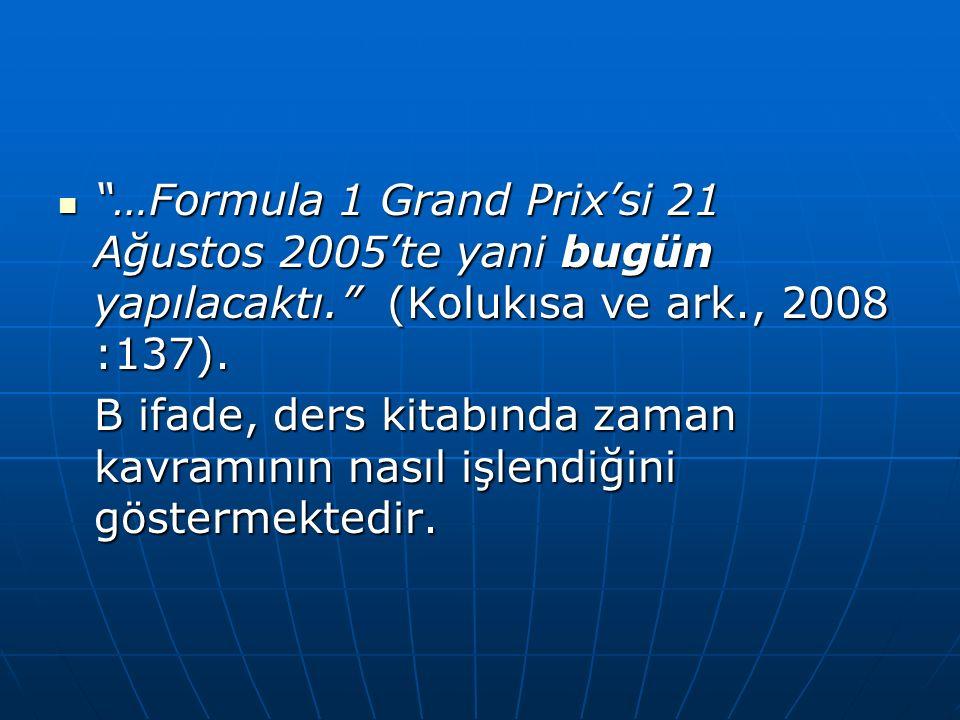 …Formula 1 Grand Prix'si 21 Ağustos 2005'te yani bugün yapılacaktı