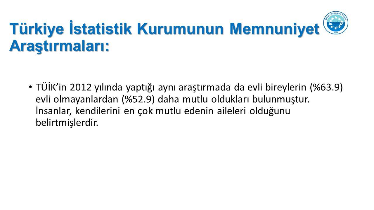 Türkiye İstatistik Kurumunun Memnuniyet Araştırmaları: