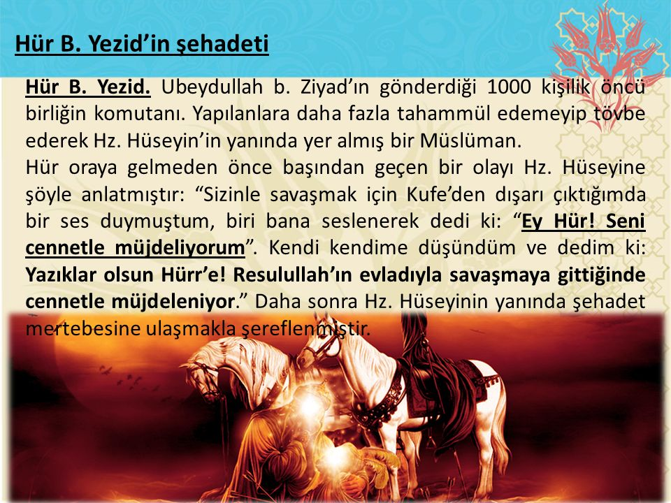 Hür B. Yezid'in şehadeti