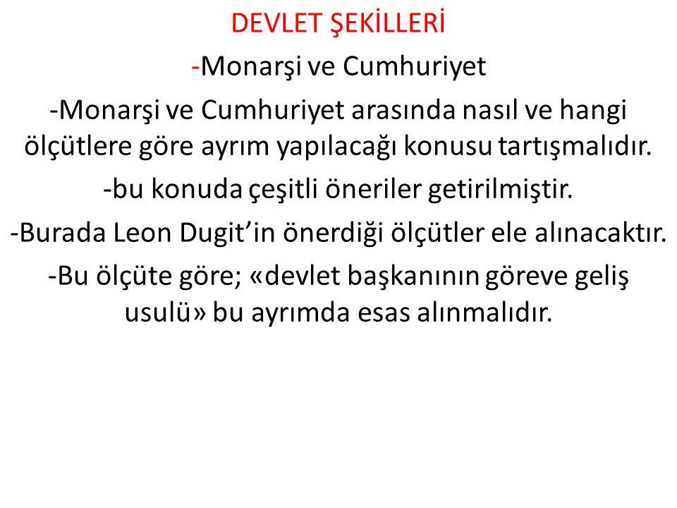 -Monarşi ve Cumhuriyet