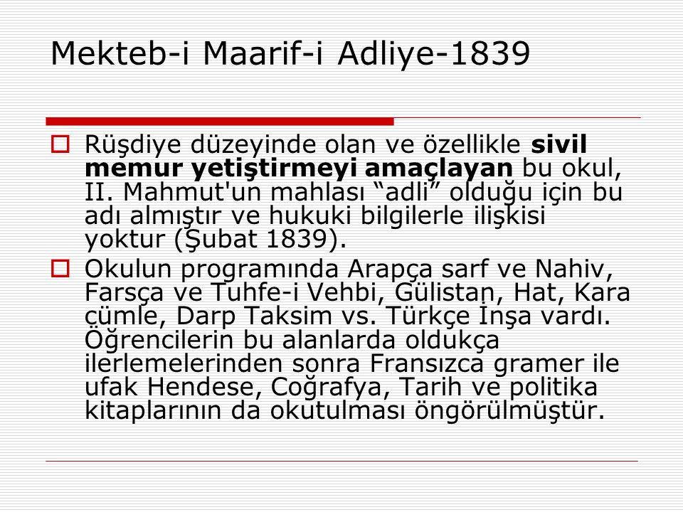 Mekteb-i Maarif-i Adliye-1839