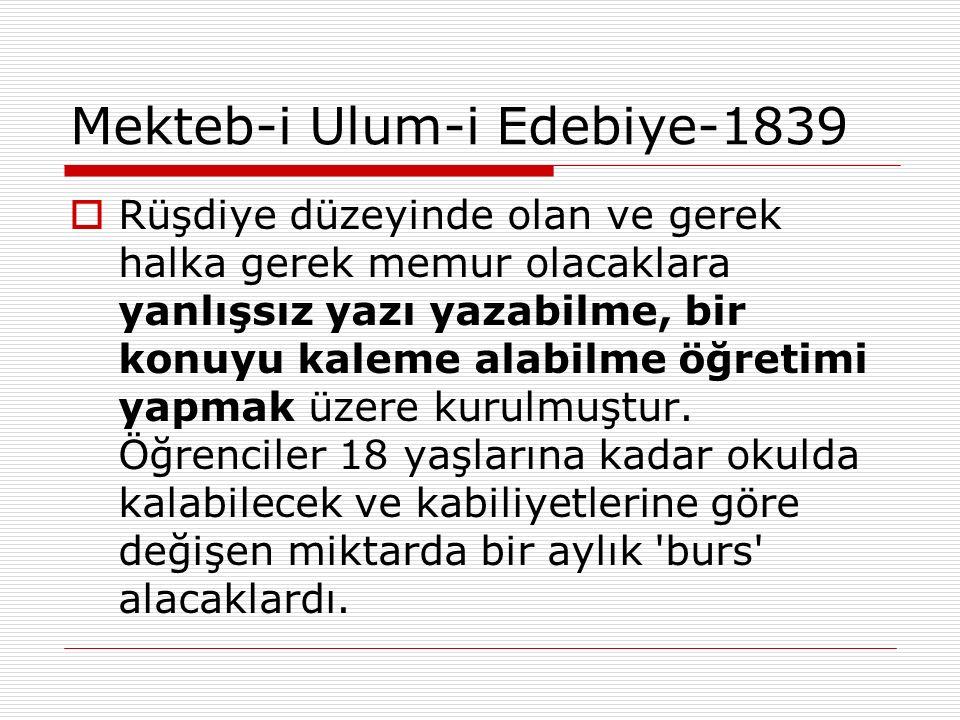 Mekteb-i Ulum-i Edebiye-1839