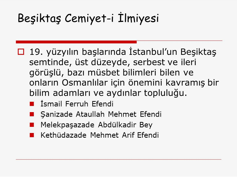 Beşiktaş Cemiyet-i İlmiyesi