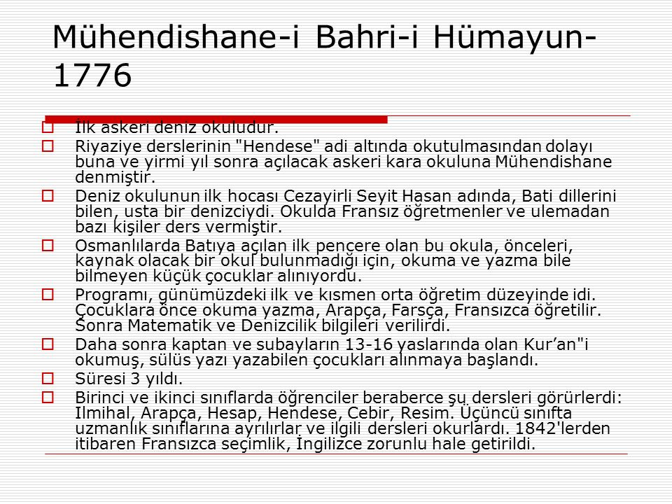 Mühendishane-i Bahri-i Hümayun-1776