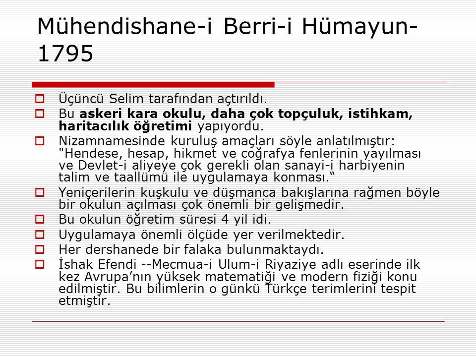 Mühendishane-i Berri-i Hümayun-1795