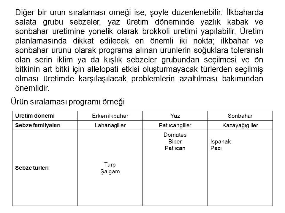 Ürün sıralaması programı örneği