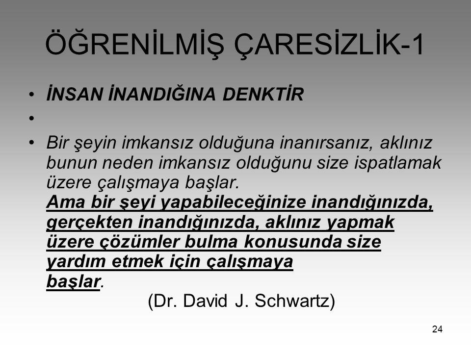 ÖĞRENİLMİŞ ÇARESİZLİK-1