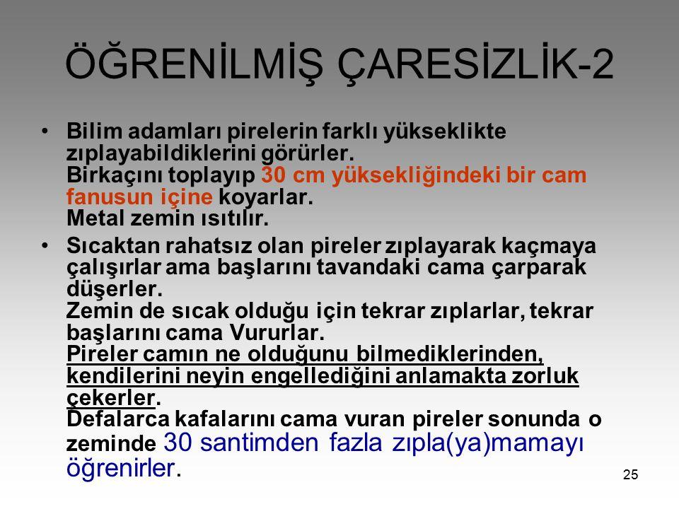ÖĞRENİLMİŞ ÇARESİZLİK-2