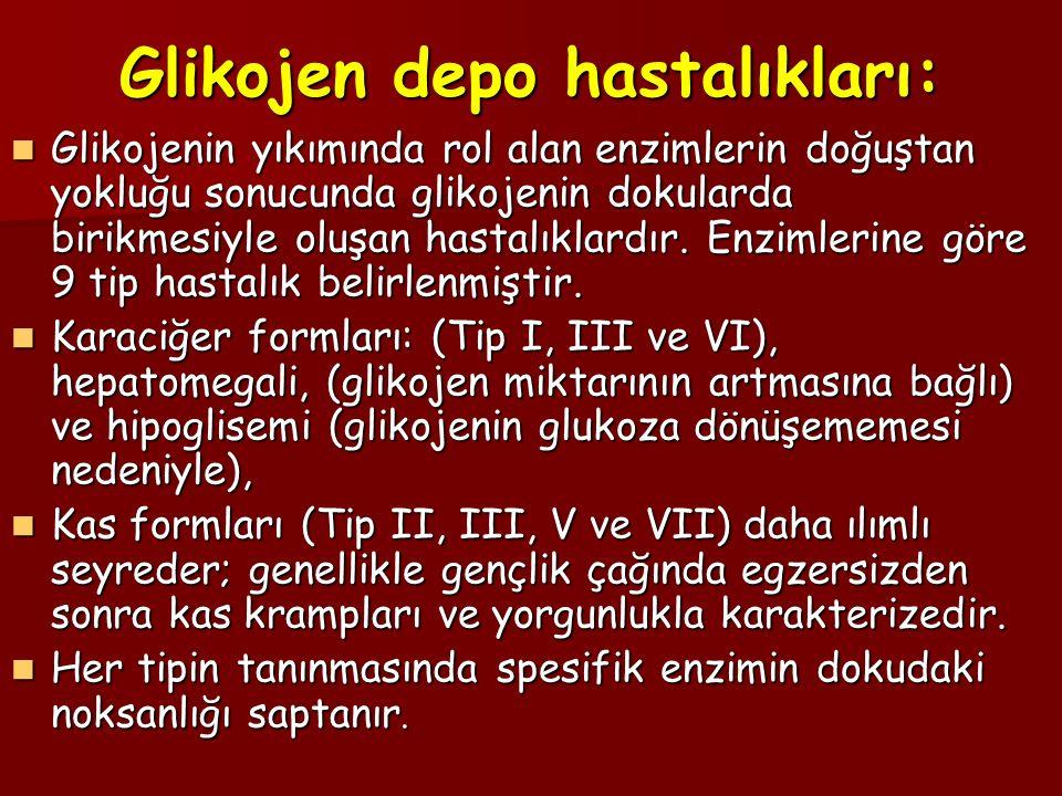 Glikojen depo hastalıkları: