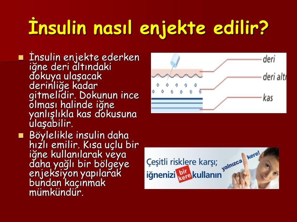 İnsulin nasıl enjekte edilir