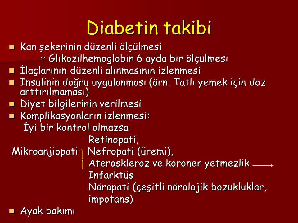 Diabetin takibi Kan şekerinin düzenli ölçülmesi