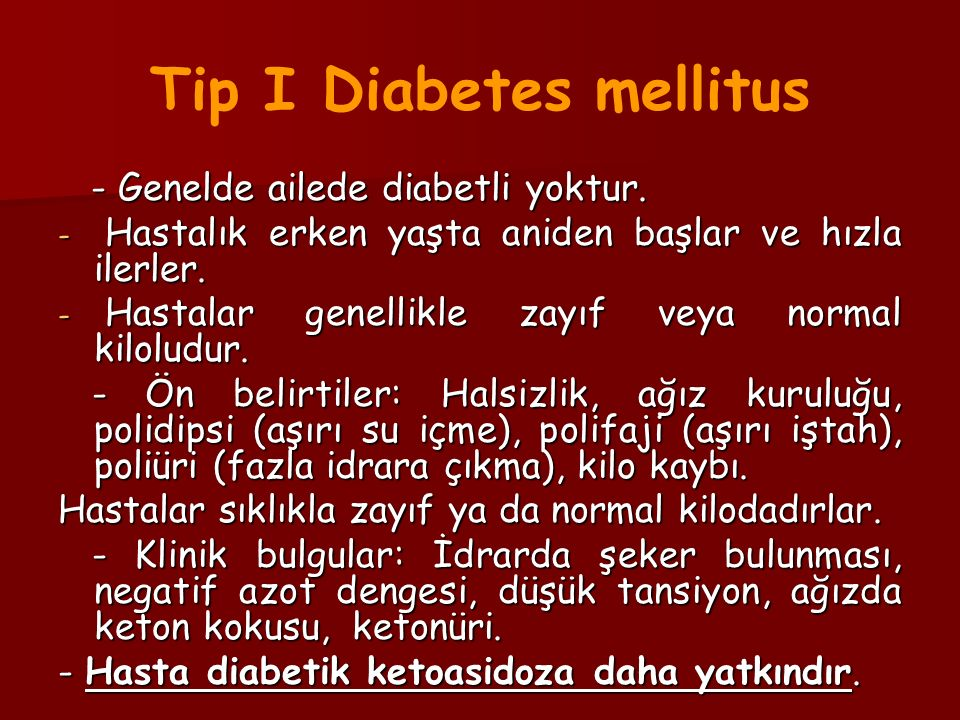 Tip I Diabetes mellitus