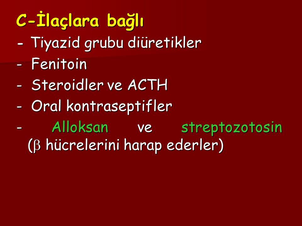 C-İlaçlara bağlı - Fenitoin - Steroidler ve ACTH