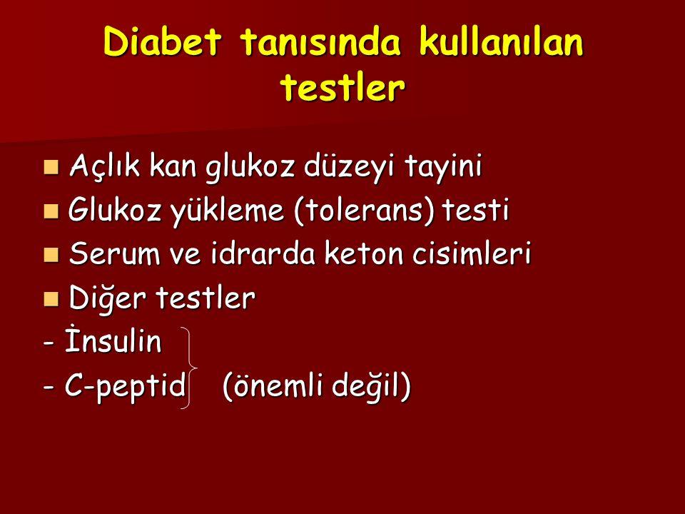 Diabet tanısında kullanılan testler