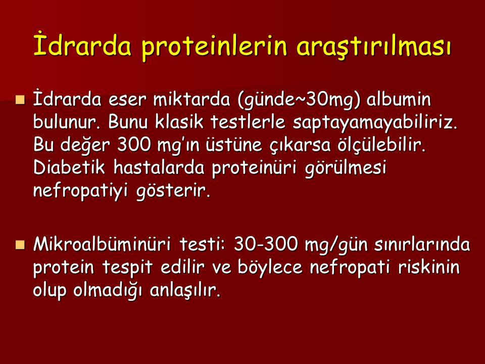İdrarda proteinlerin araştırılması