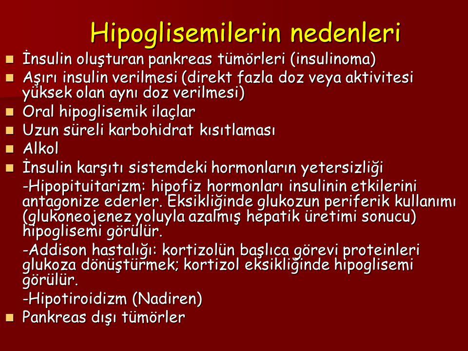 Hipoglisemilerin nedenleri
