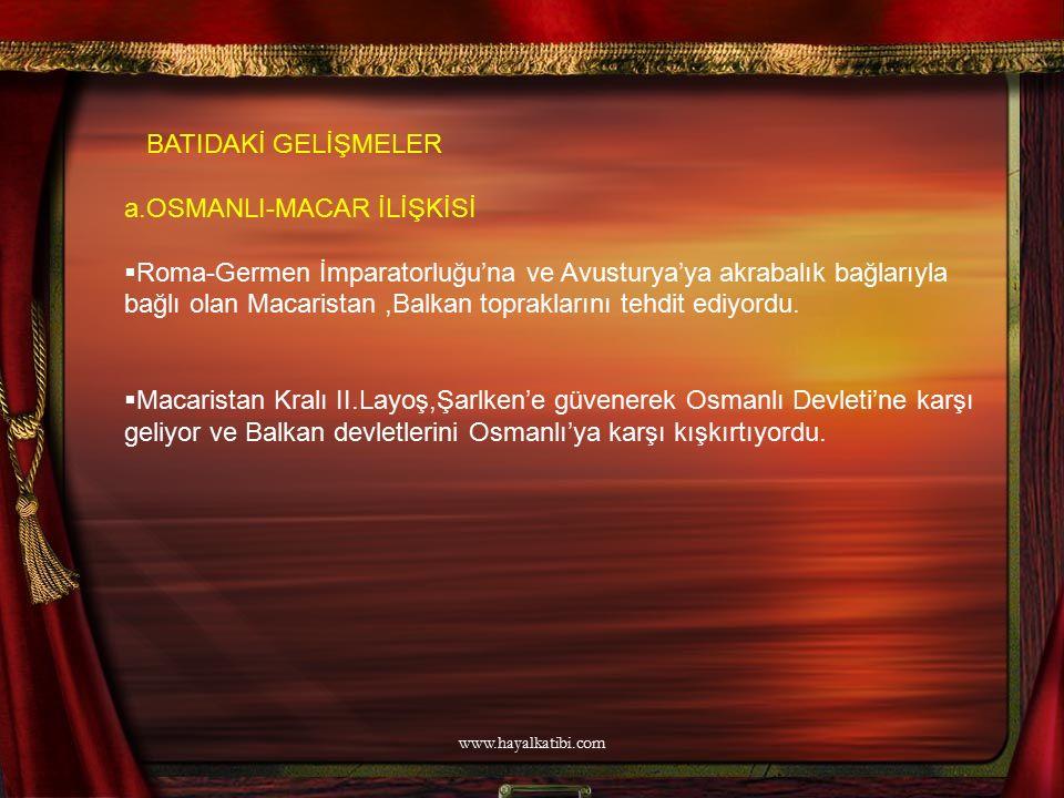 a.OSMANLI-MACAR İLİŞKİSİ