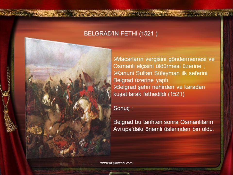 Kanuni Sultan Süleyman ilk seferini Belgrad üzerine yaptı.