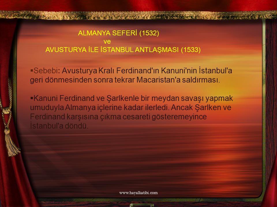 ALMANYA SEFERİ (1532) ve. AVUSTURYA İLE İSTANBUL ANTLAŞMASI (1533)