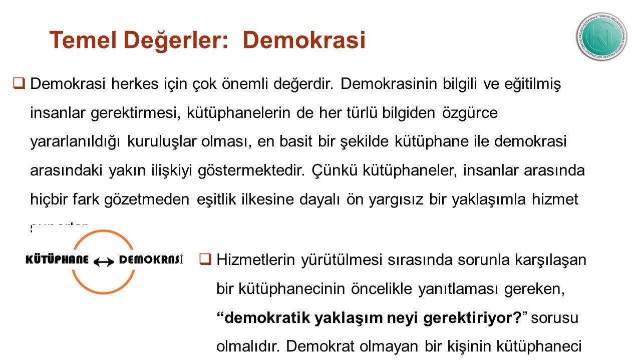 Temel Değerler: Demokrasi