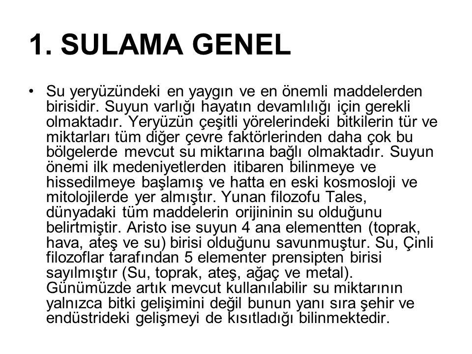 1. SULAMA GENEL