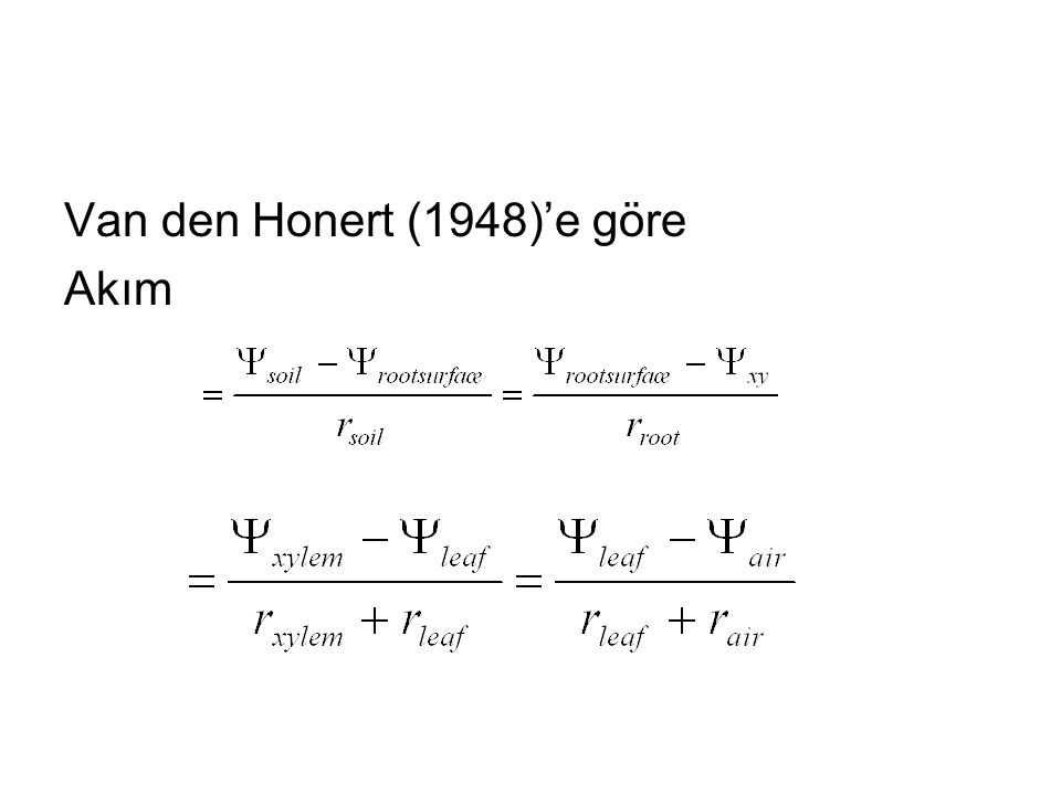 Van den Honert (1948)'e göre