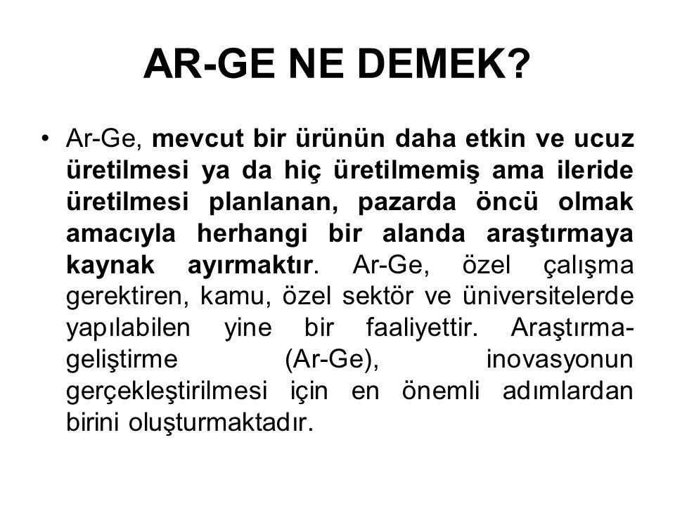 AR-GE NE DEMEK