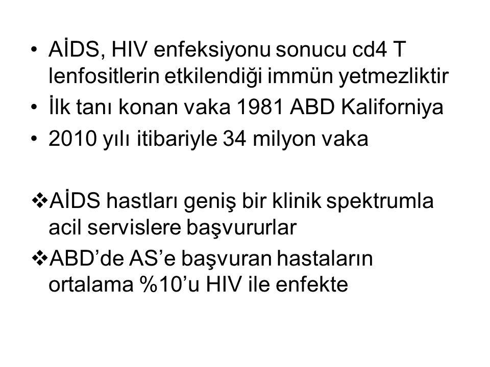AİDS, HIV enfeksiyonu sonucu cd4 T lenfositlerin etkilendiği immün yetmezliktir