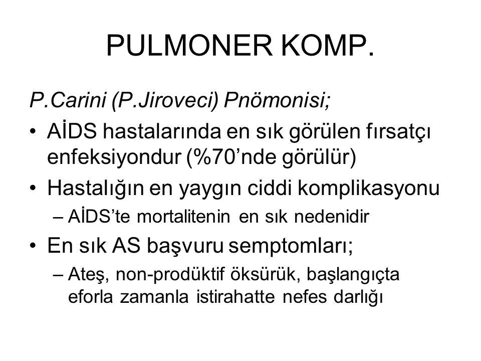 PULMONER KOMP. P.Carini (P.Jiroveci) Pnömonisi;