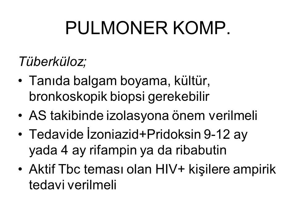 PULMONER KOMP. Tüberküloz;