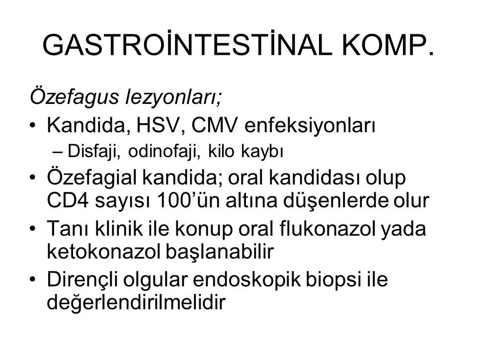 GASTROİNTESTİNAL KOMP.
