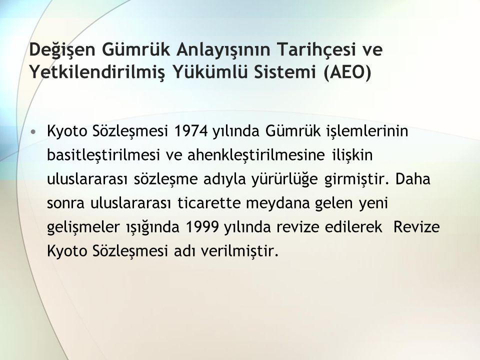 Değişen Gümrük Anlayışının Tarihçesi ve Yetkilendirilmiş Yükümlü Sistemi (AEO)
