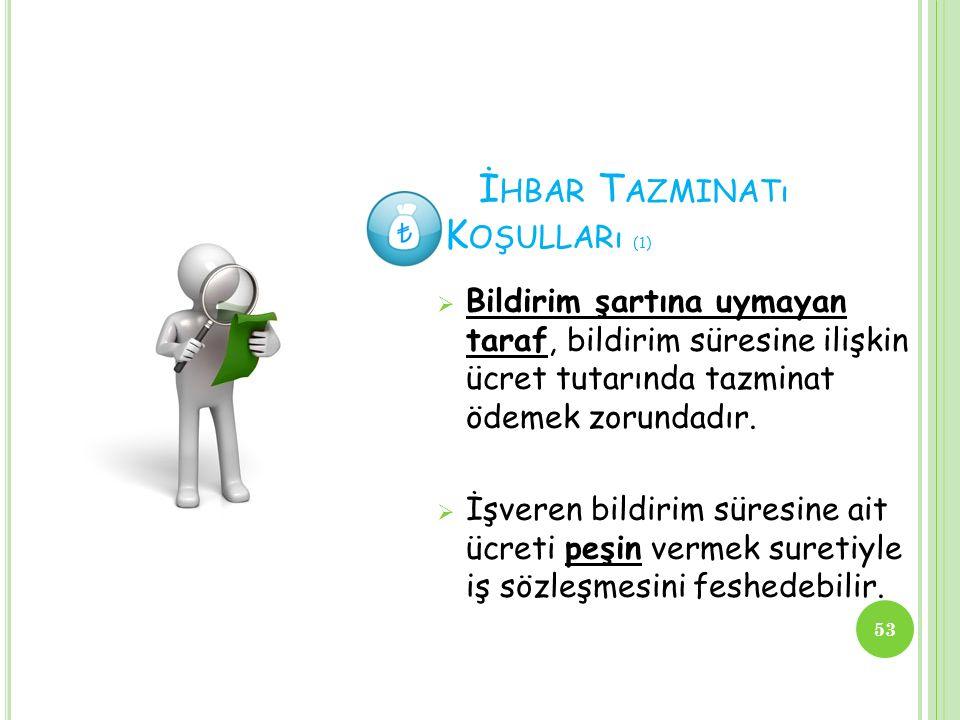 İhbar Tazminatı Koşulları (1)