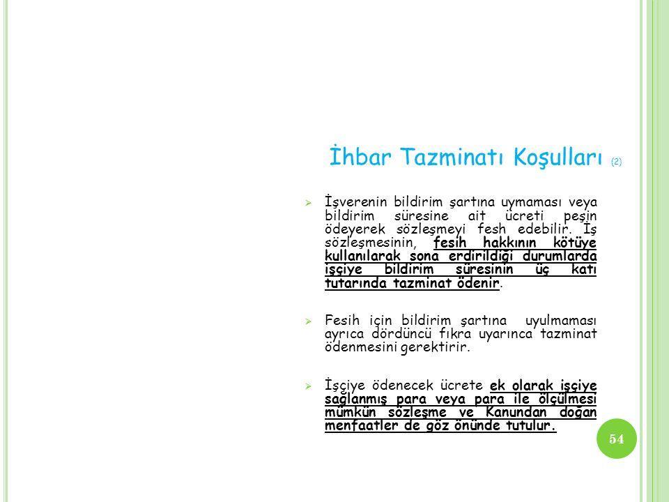 İhbar Tazminatı Koşulları (2)