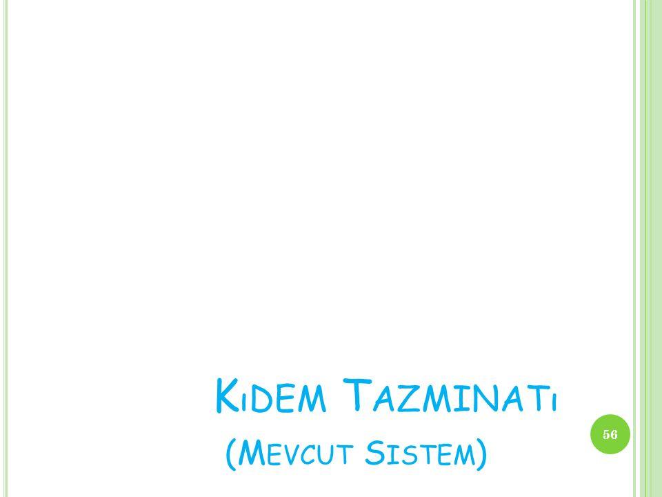 Kıdem Tazminatı (Mevcut Sistem)