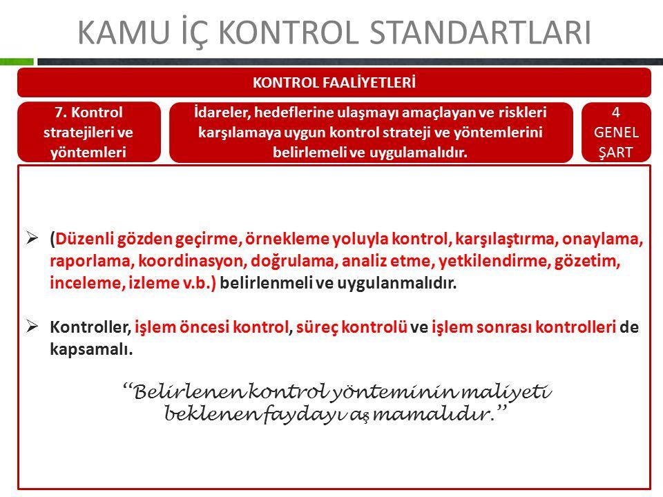 7. Kontrol stratejileri ve yöntemleri