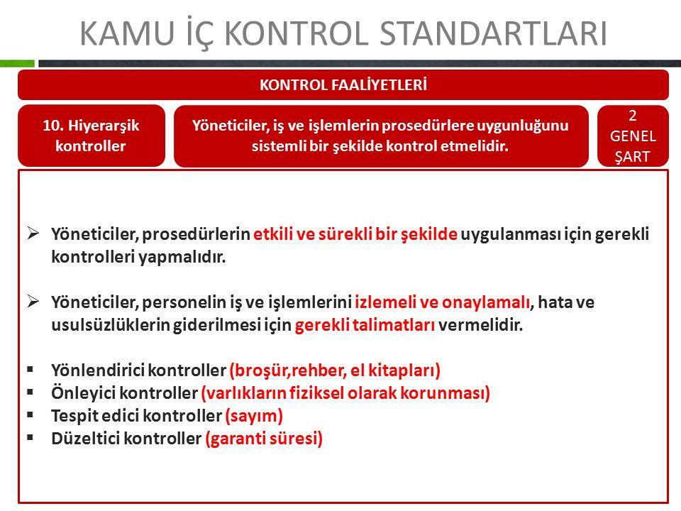 10. Hiyerarşik kontroller