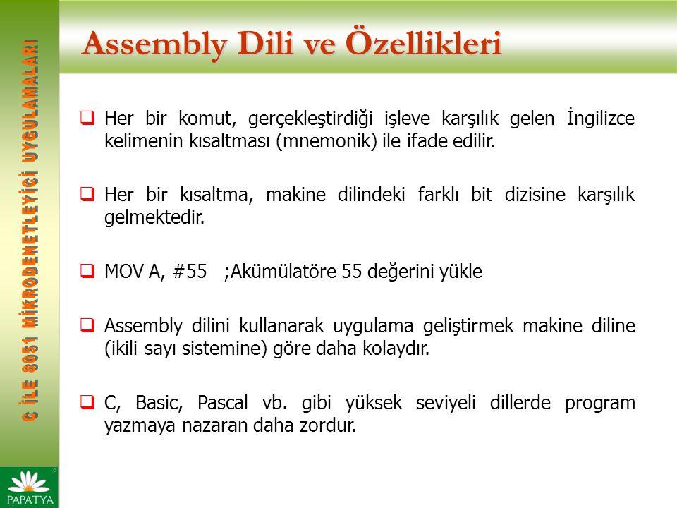 Assembly Dili ve Özellikleri