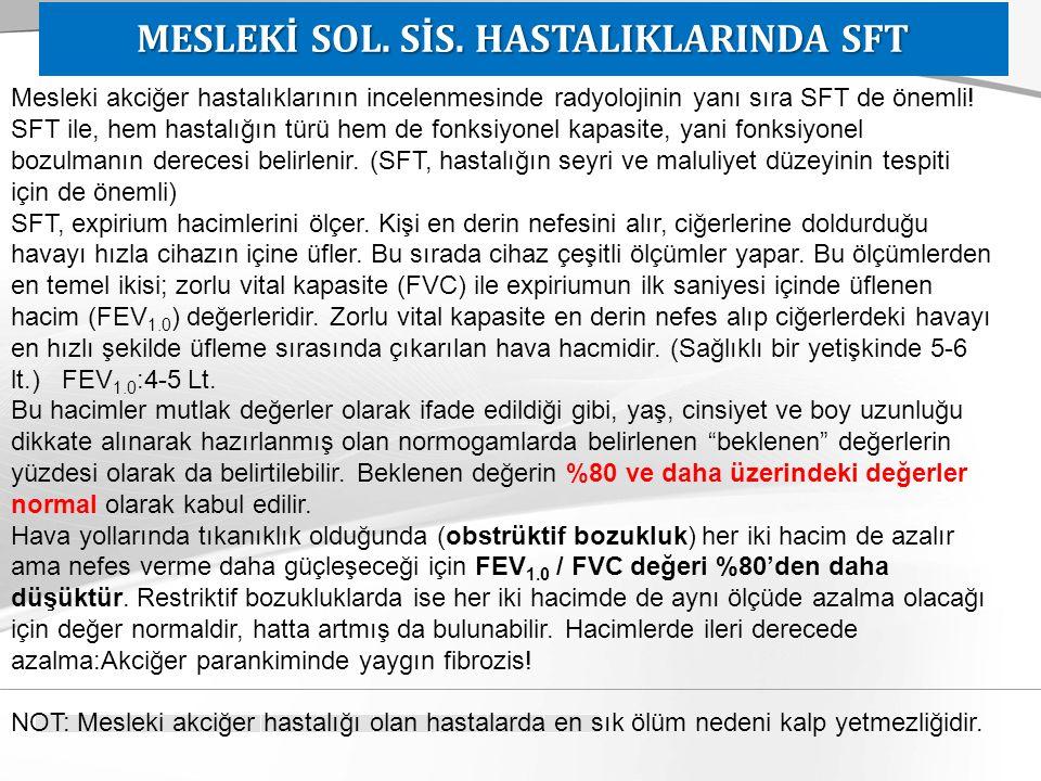 MESLEKİ SOL. SİS. HASTALIKLARINDA SFT