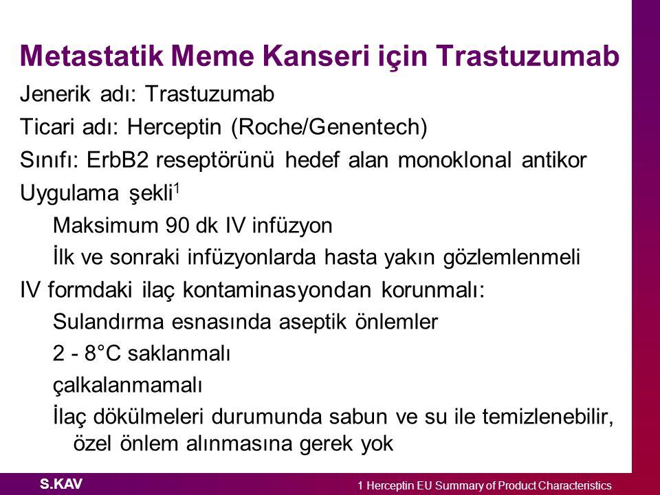 Metastatik Meme Kanseri için Trastuzumab