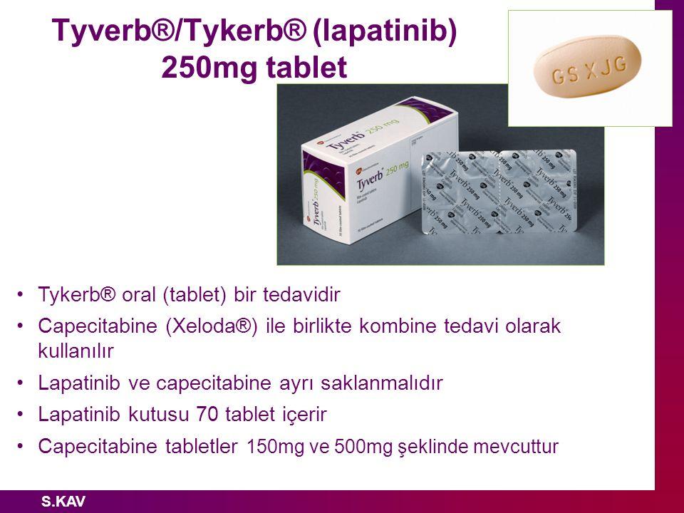Tyverb®/Tykerb® (lapatinib) 250mg tablet