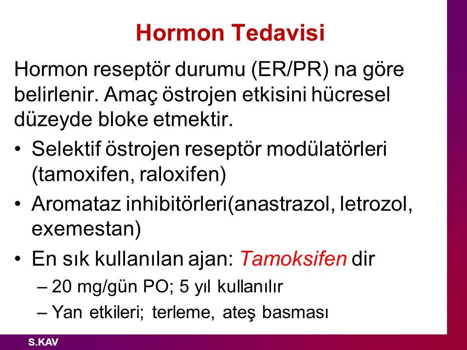 Hormon Tedavisi Hormon reseptör durumu (ER/PR) na göre belirlenir. Amaç östrojen etkisini hücresel düzeyde bloke etmektir.