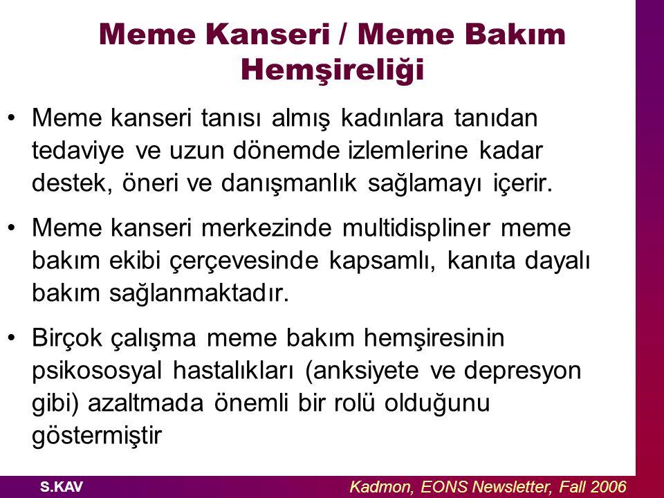 Meme Kanseri / Meme Bakım Hemşireliği