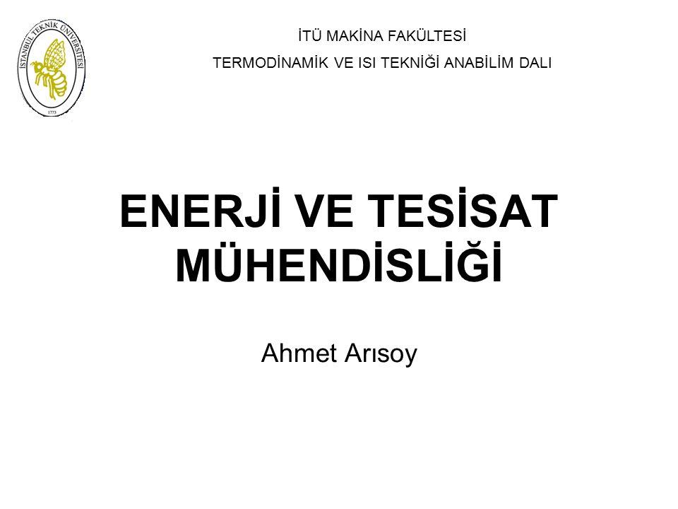 ENERJİ VE TESİSAT MÜHENDİSLİĞİ Ahmet Arısoy