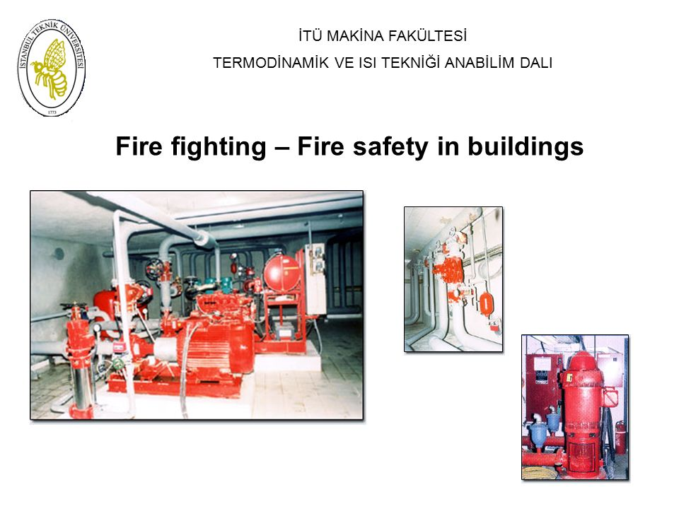 Fire fighting – Fire safety in buildings