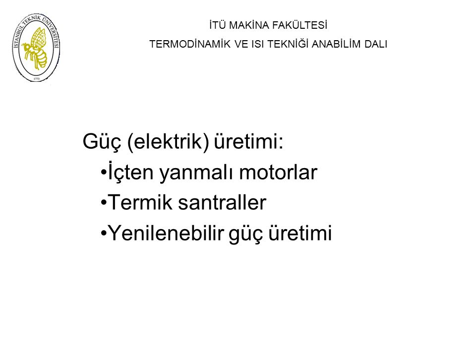 Güç (elektrik) üretimi: