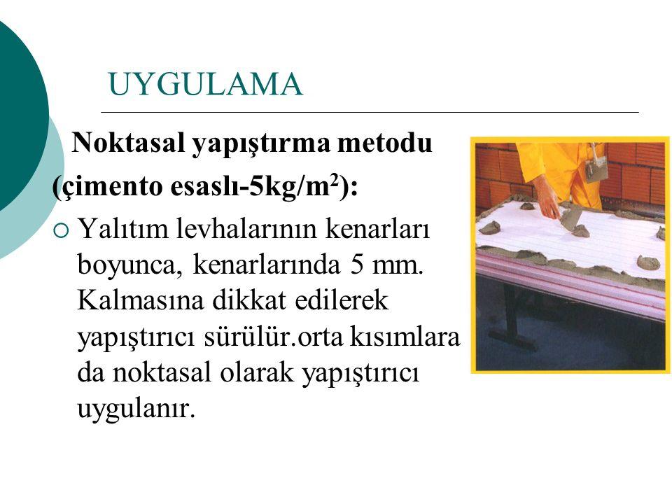UYGULAMA (çimento esaslı-5kg/m2):