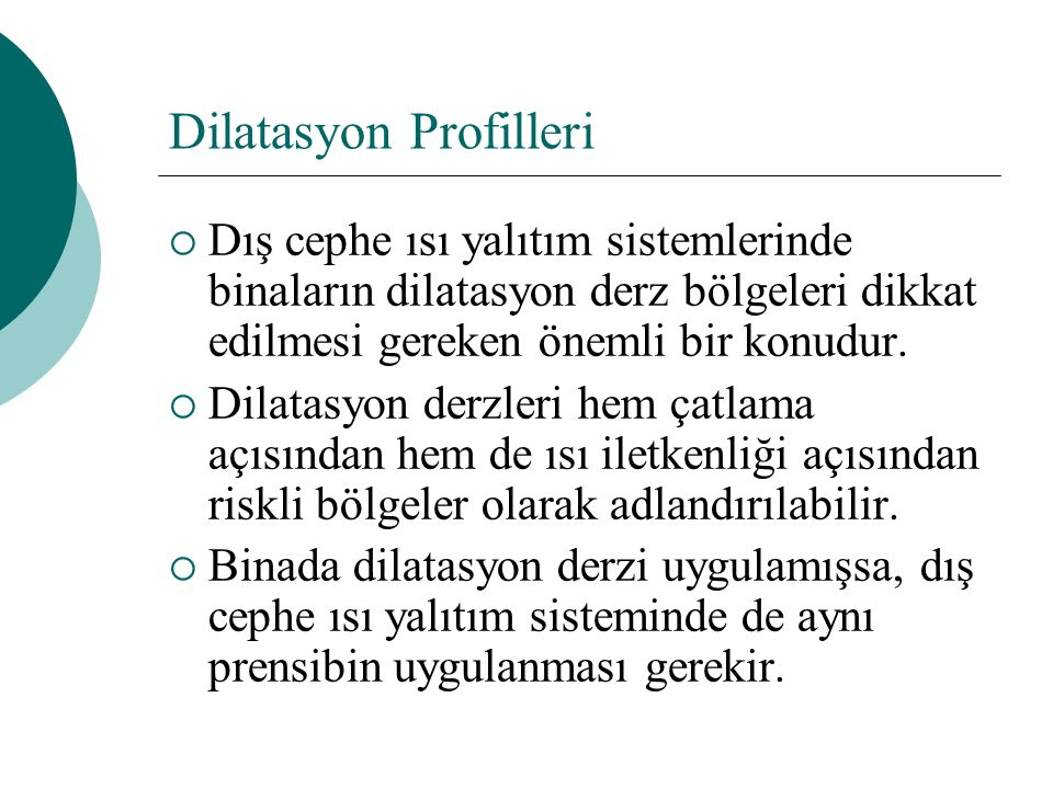 Dilatasyon Profilleri