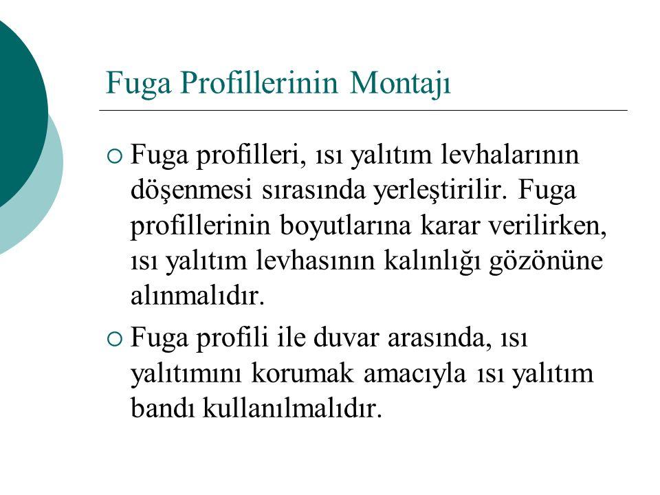 Fuga Profillerinin Montajı