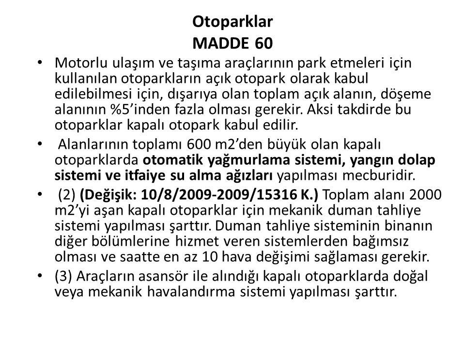 Otoparklar MADDE 60